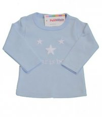 "T-shirt ""A star is born"" blauw"